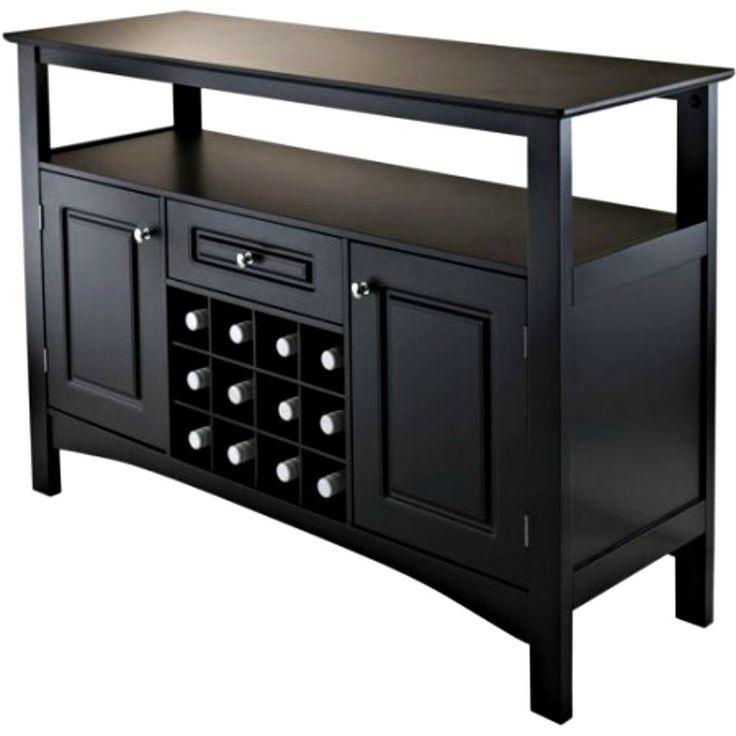 kitchen buffet cabinet bar furniture wine rack liquor storage utility drawer