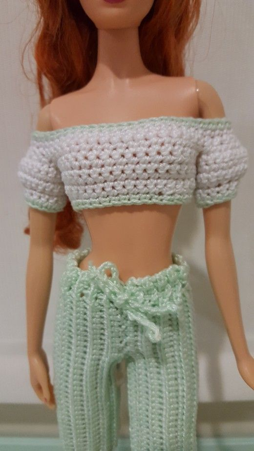 Barbie Cropped Top w/ Puffy Sleeves -free pattern