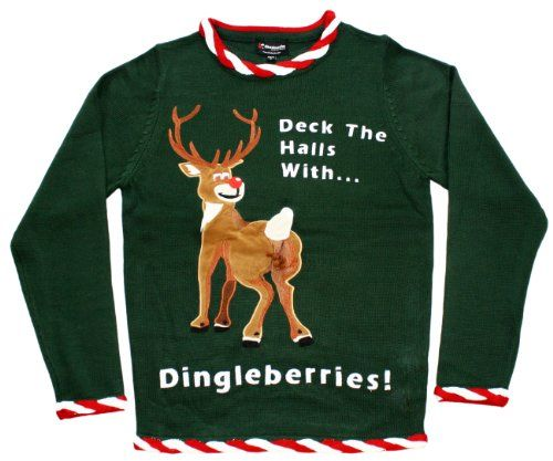 Ugly Christmas Sweater - Rudolph Dingleberries Sweater