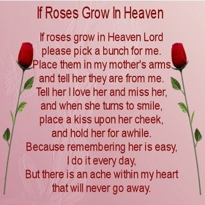 memorial mothers day poems passed moms