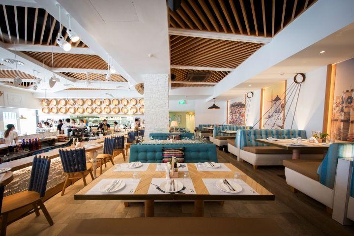 Bakalaki Greek Taverna By Dimitris Economou Interiors Singapore Retail Design Blog Greek Restaurants Restaurant Layout Restaurant Design