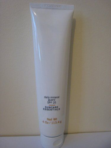 Daily Mineral Guard SPF 25 - Broad Spectrum Anti Aging Sunscreen by Credentials. $25.80. Smoothes and firms skin, while repairing cells and reversing signs of UV damage.. Soothes & nourishes your skin. Sodium Hyaluronate covers your skin like a glove of moisture, protecting and calming it.. Oil free formula, non greasy. High water-binding properties. Contains antioxidants.. The skin-friendly, paraben-free, non-greasy formula is suitable for all skin types, even po...