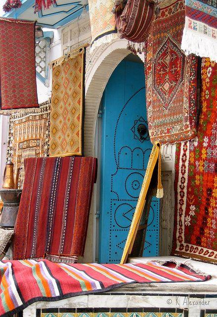 Carpet Sale (TUNISIA, Kairouan) by Kalexander2010, via Flickr