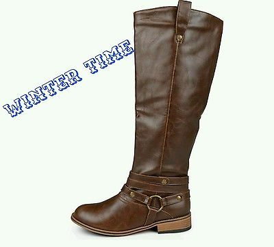 journee collection wide calf riding boots