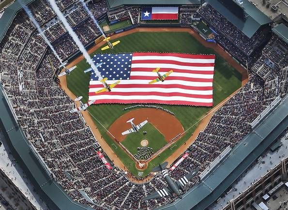 Texas Rangers opening day!
