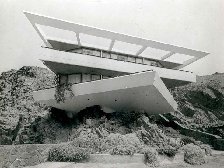 Casa Fernandini is one of Peruvian architect Walter Weberhofer's best-known works, built  between 1957 and 1958 in Lima, Peru. The coastal dwelling appears to emerge from the surrounding rocks and cliffs, with terraces and eaves that merge into the surrounding natural environment.