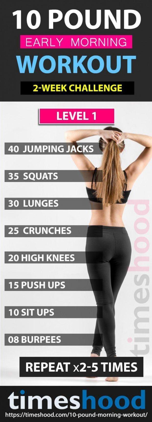 Verlieren Sie 10 Pfund in 3 Wochen mit diesem Übungsplan für frühm