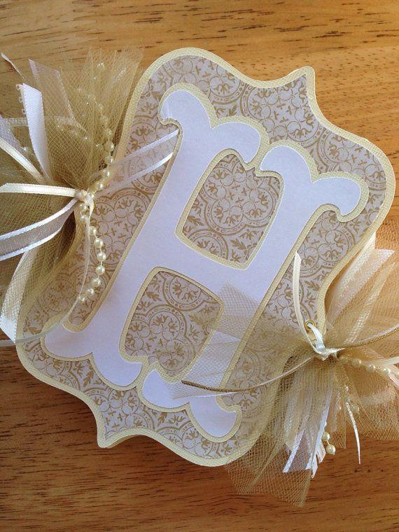 Custom Happy Anniversary Banner Golden by CustomPaperMemories