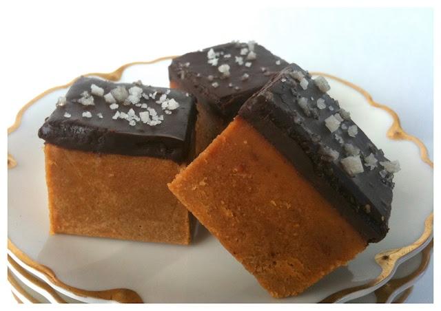 Pumpkin Pie Fudge with Salted Dark Chocolate Ganache Recipe #pumpkin #recipe