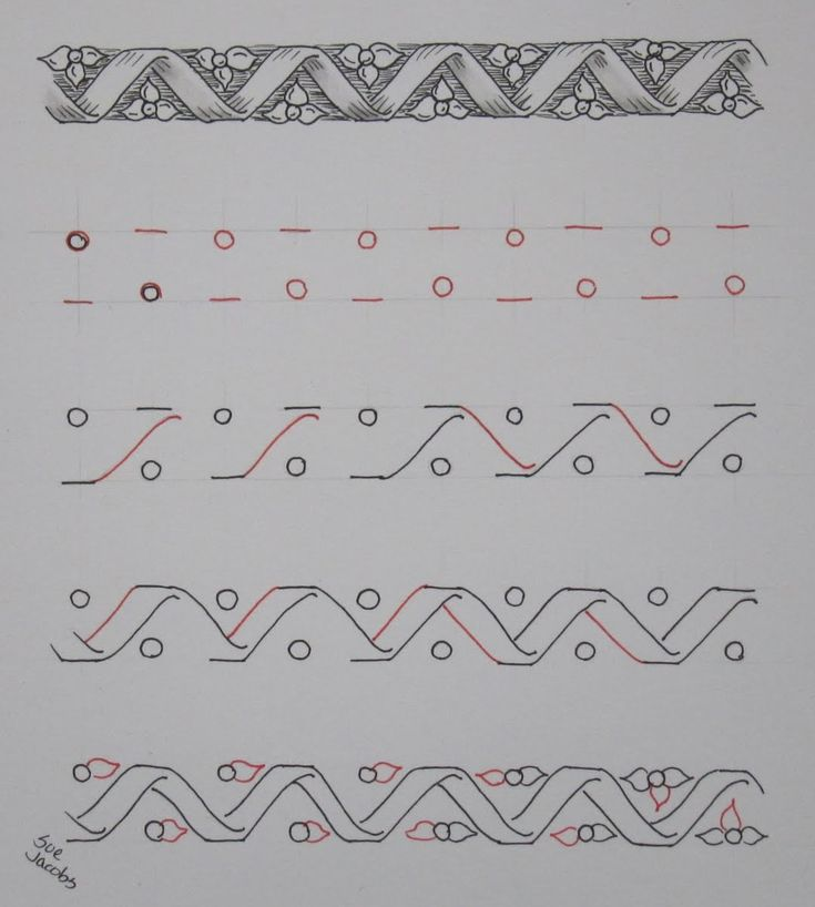 flowers bars from Sue Jacobs' website - lots of great illustrated tangles!