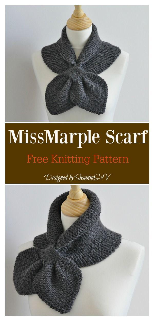 Self Fastening Keyhole Scarf Free Knitting Pattern