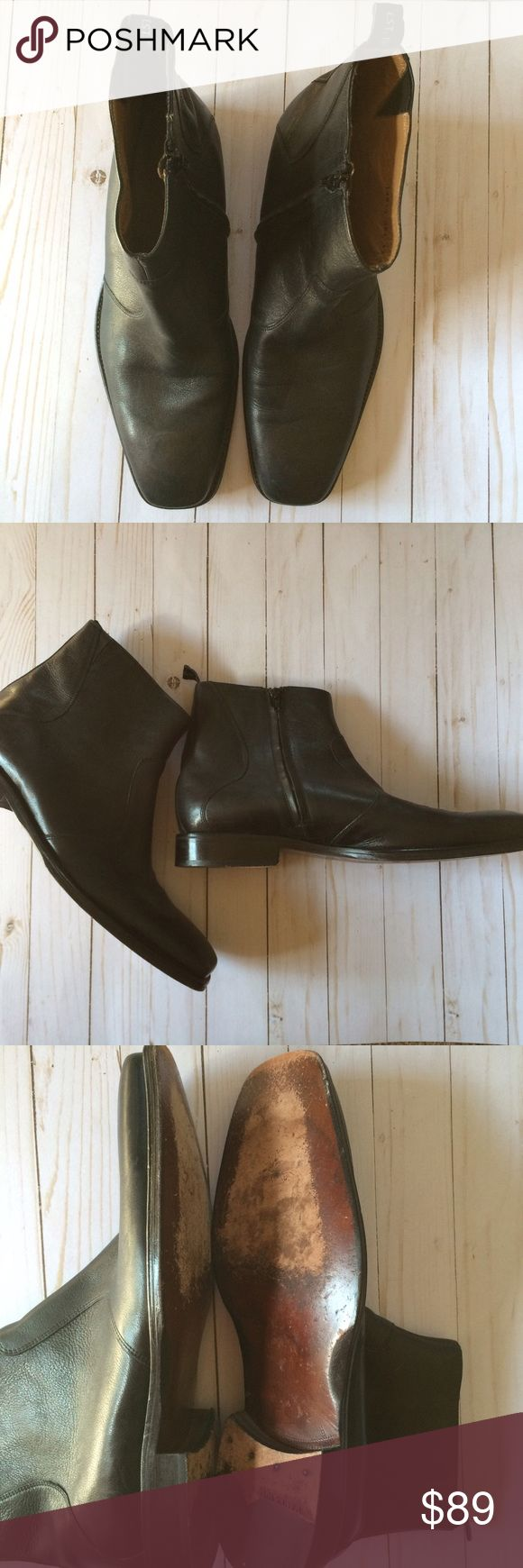 Florsheim Imperial Leather Black Zipper Boots 13D Excellent used condition! Size 13D Florsheim Shoes Boots