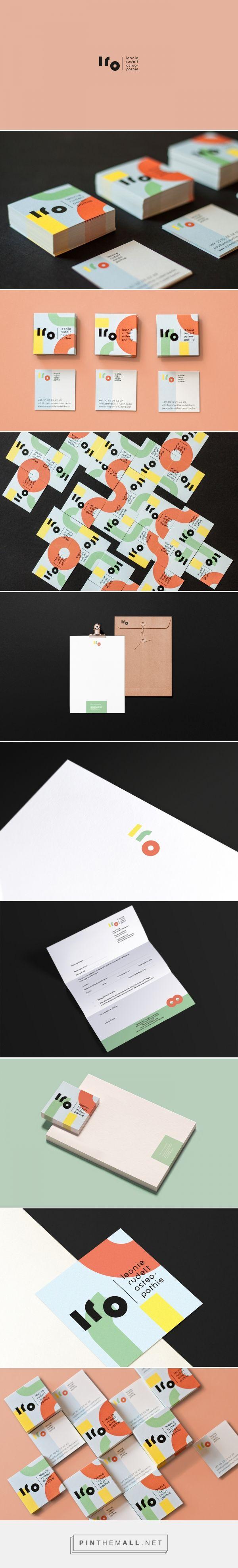 Leonie Rudelt Osteopathie Branding by Alessia Sistori - 간단한 패턴이지만 색 조합이 귀엽다