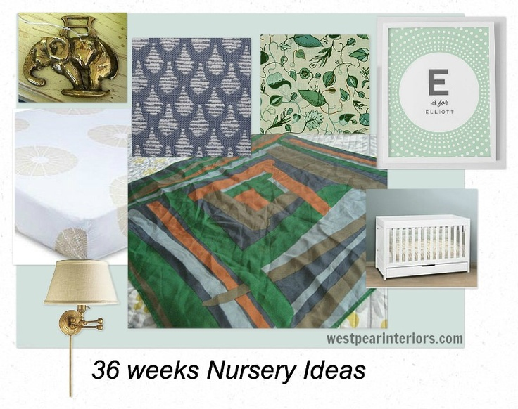 west pear interiors 36 weeks and the evolving nursery plan