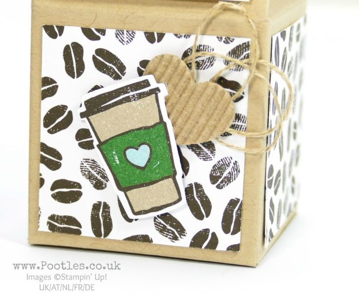 Stampin' Up! Demonstrator Pootles - Adorable Coffee Break Milk Carton.  Click throguh for more project detaisl and VIDEO tutorial!