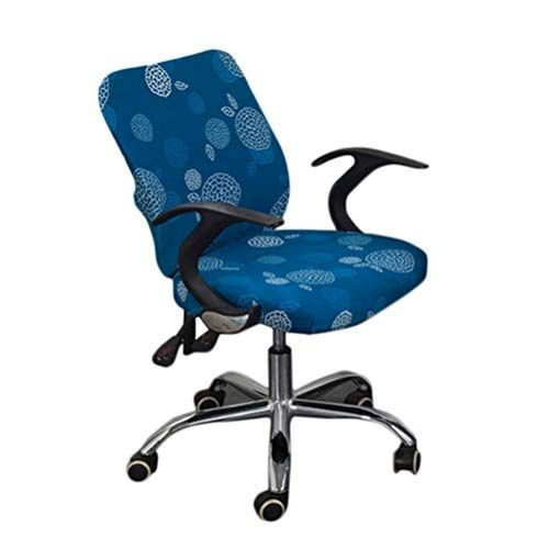 Office Chair Covers Spandex Computer Chair Slipcover Flower Printed Removable Rotating Chair Co Chair Covers Slipcover Slipcovers For Chairs Office Chair Cover