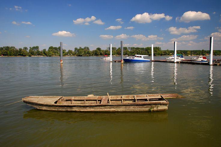 Danube river, town of Zemun