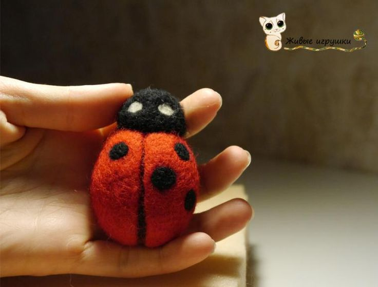 Needle Felting Tutorial Ladybug