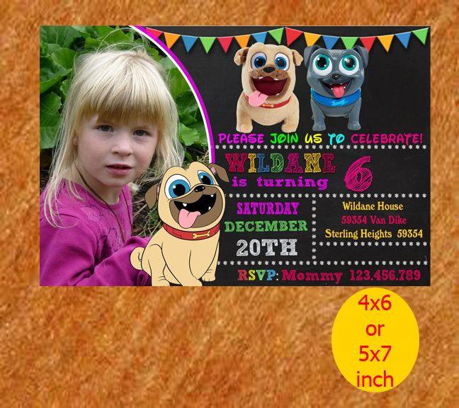 Puppy Dog Birthday Invitation, Puppy Dog Invitation, Puppy Dog Birthday, Puppy Dog Party, Puppy Dog Printable, Puppy Dog Instant Download by naharululyaART on Etsy