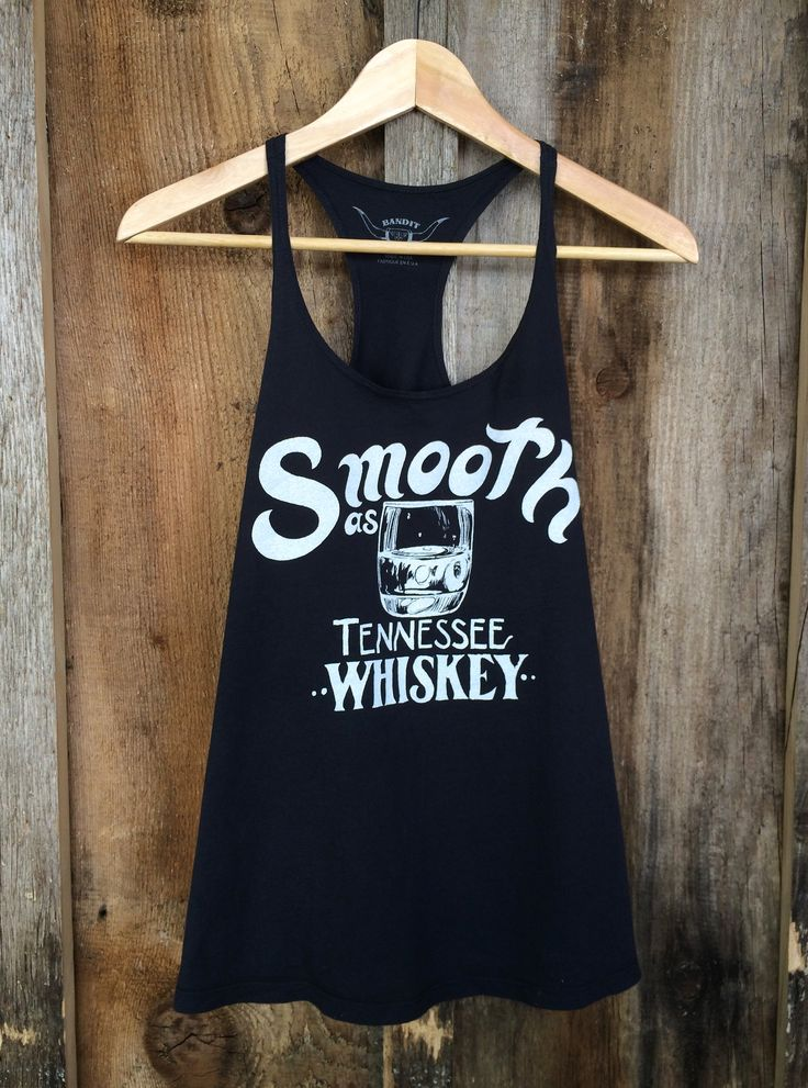 Smooth As Tennessee Whiskey Racer Tank Blk/White