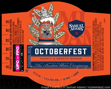 mybeerbuzz.com - Bringing Good Beers & Good People Together...: Samuel Adams - Octoberfest 2017