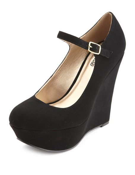 Platform Mary Jane Wedge: Charlotte Russe