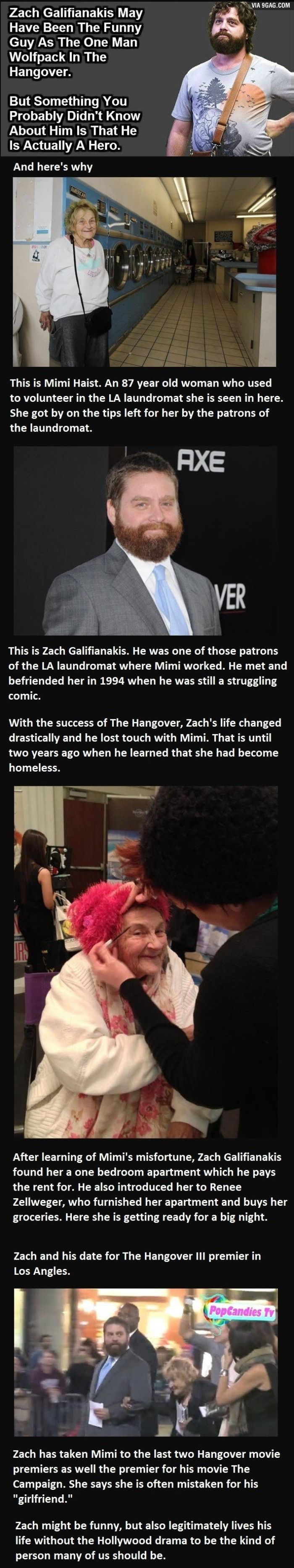 Zach Galifianakis Might Have Been The Funny Guy, But This Is Amazing.