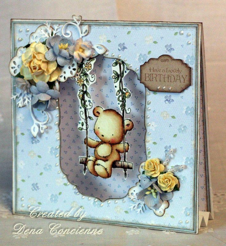 LOTV - Spring Time Bear - Dena - http://www.liliofthevalley.co.uk/acatalog/Stamp_-_Spring_Time_Bear.html