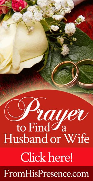 If you are single and want to get married, pray this sample prayer to find a husband or wife! God's Word promises you a spouse if you want one.