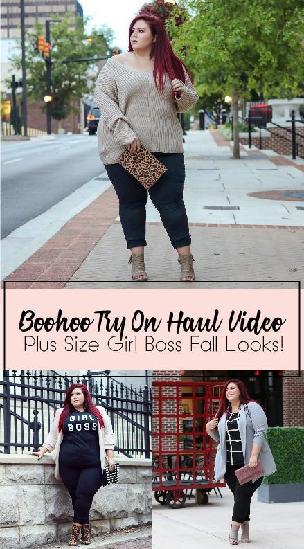 516c5295bfe Plus Size Boohoo Try on Haul Video featuring some girl boss work looks and  some bomb fall looks!
