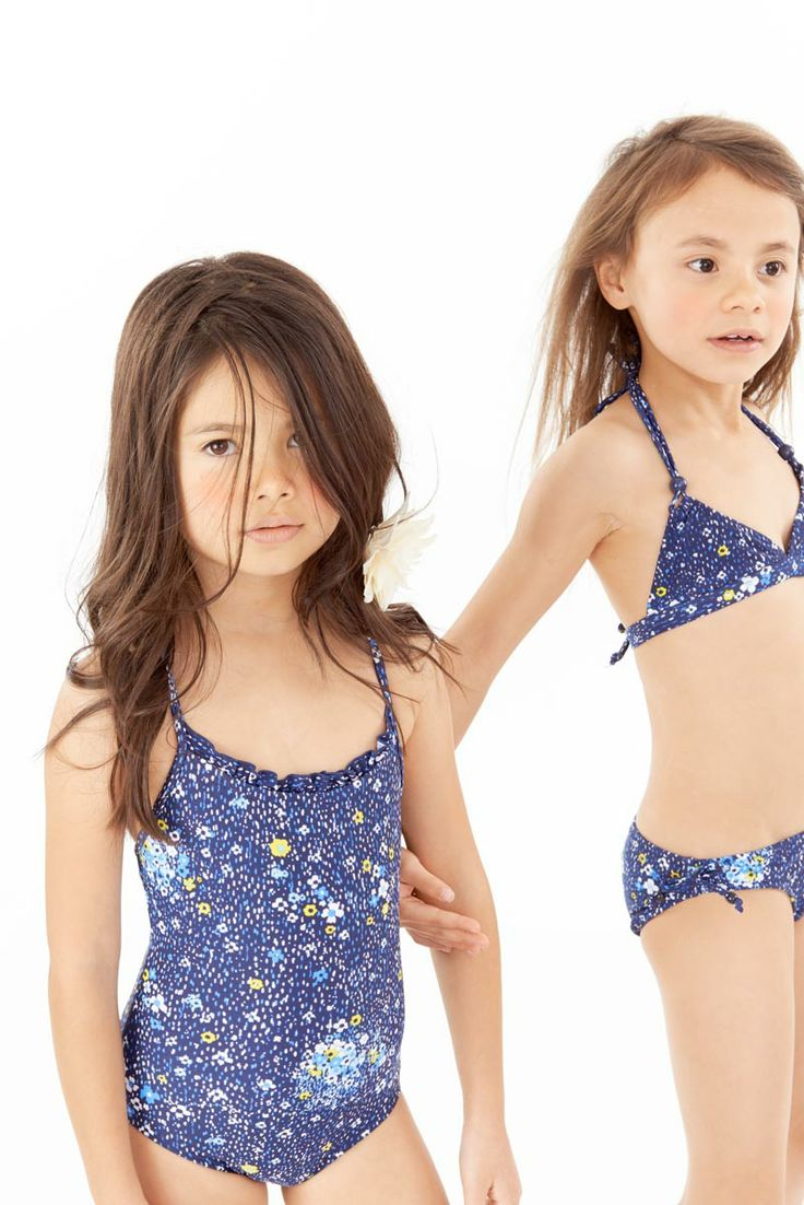 Girls Speckle Flower Navy Ruffle One piece suit, and Itsy ...