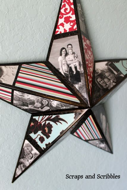 DIY Photo Collage Star TUTORIAL    ~Scraps and Scribbles~: {Blast from the Past} Photo Collage Star