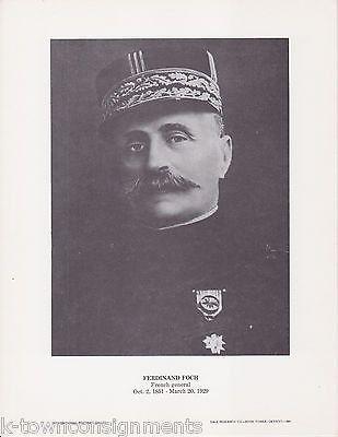 Ferdinand Foch French General Vintage Portrait Gallery Poster Photo Print