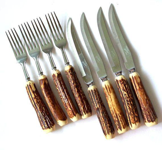 Vintage Boxed Cutron Steak Knife & Fork Set  by MargsMostlyVintage, $48.00