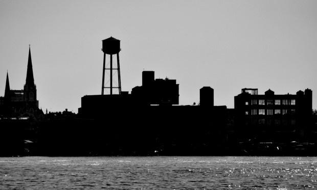 Looking across the East river to Queens: Queen
