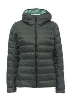 Пуховик, adidas Performance, цвет: зеленый. Артикул: AD094EWMSF66. Женская одежда / Верхняя одежда / Пуховики и зимние куртки