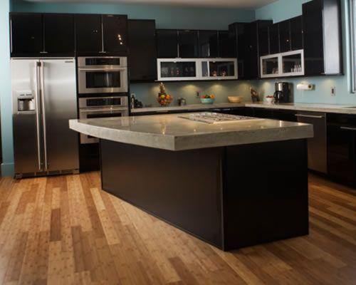 Superb Kitchen Ideas Dark Cabinets Wood Floor