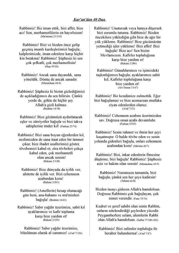 Kuran-ı Kerimden 40 DUA 2