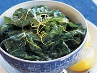 Wilted silverbeet with garlic