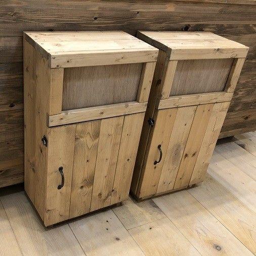 カフェなどにあるごみ箱はフタが付いているけど捨てやすく、中身が見えないので見た目も汚くありませんよね。木で作るとゴミ箱じたいもインテリアになりますよ。