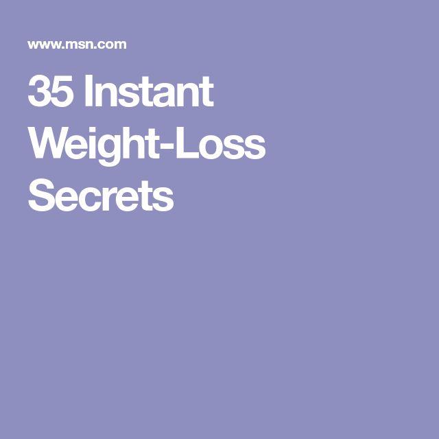 35 Instant Weight-Loss Secrets
