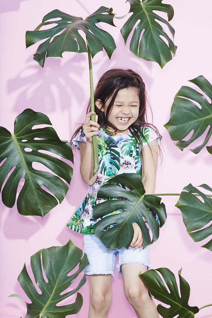 The sweetest pussycat print at Molo for summer 2016 girls fashion