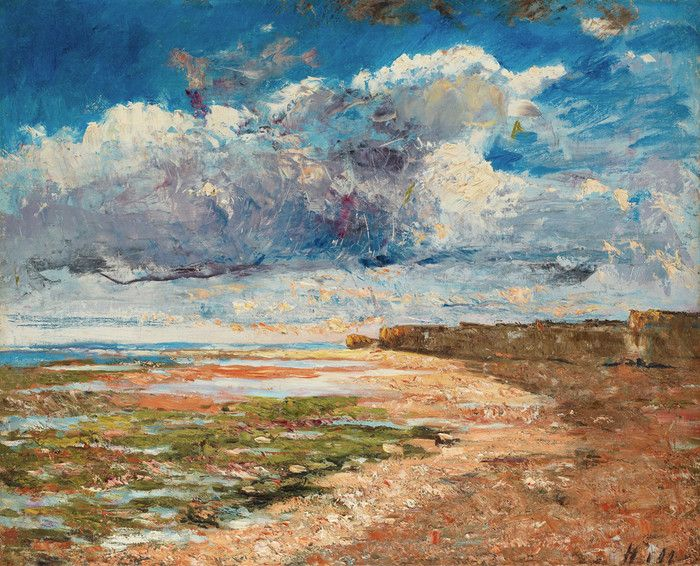 Carl Fredrik Hill - Clouds Over the Cliffs, Luc-sur-Mer