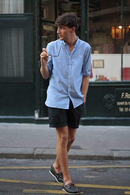 Believe it or not, boys, there IS a way to do casual without wearing basketball shorts and a tee shirt.