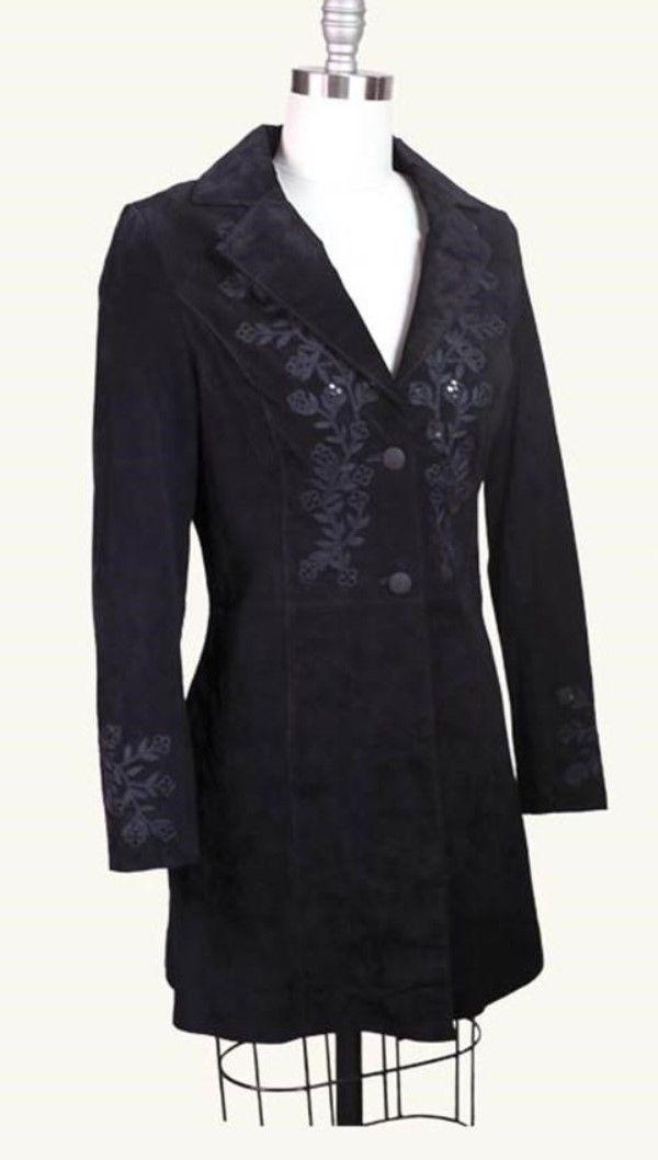 Victorian Trading Co Hopeless Romantic Virginia Suede Black Coat Size 8   eBay
