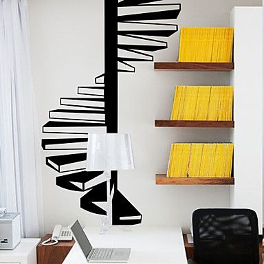 Architecture Spiral Stairs Wall Stickers – AUD $ 53.12