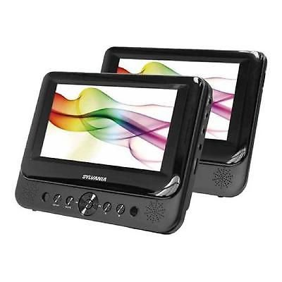 Portable Dvd Player Dual Screen 7 Inches Playback Audio Video Car Medial Player