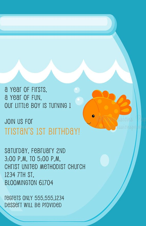 Goldfish Birthday Party Package by ExpressionsPaperie on Etsy, $80.00
