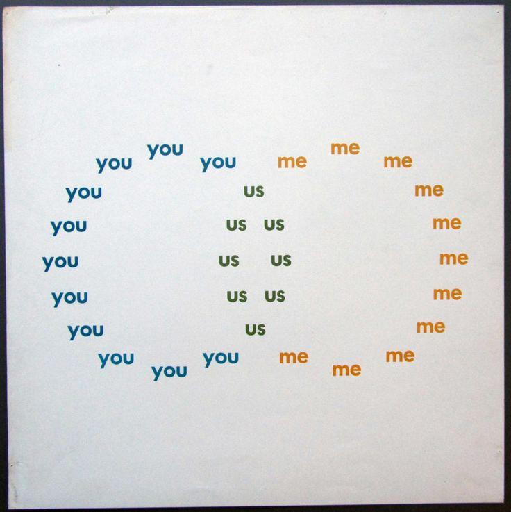 You - Me - Us Ian Hamilton Finlay (with John Furnival), 1968 Openings Press, Gloucestershire