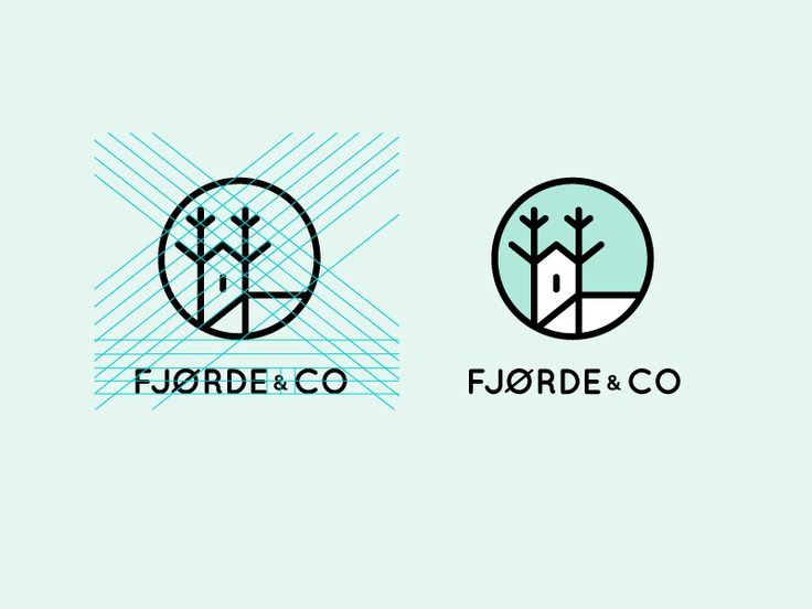 Dribbble - Scandinavian home furniture brand logo by Kira Schoko